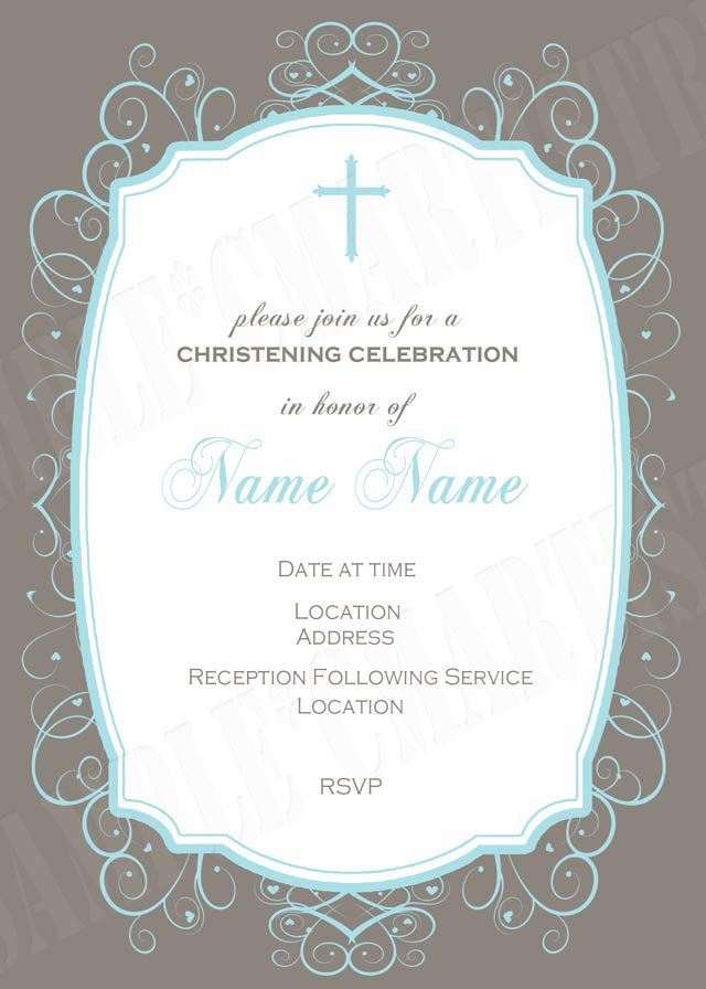 Baptism Invitation Cards Printable