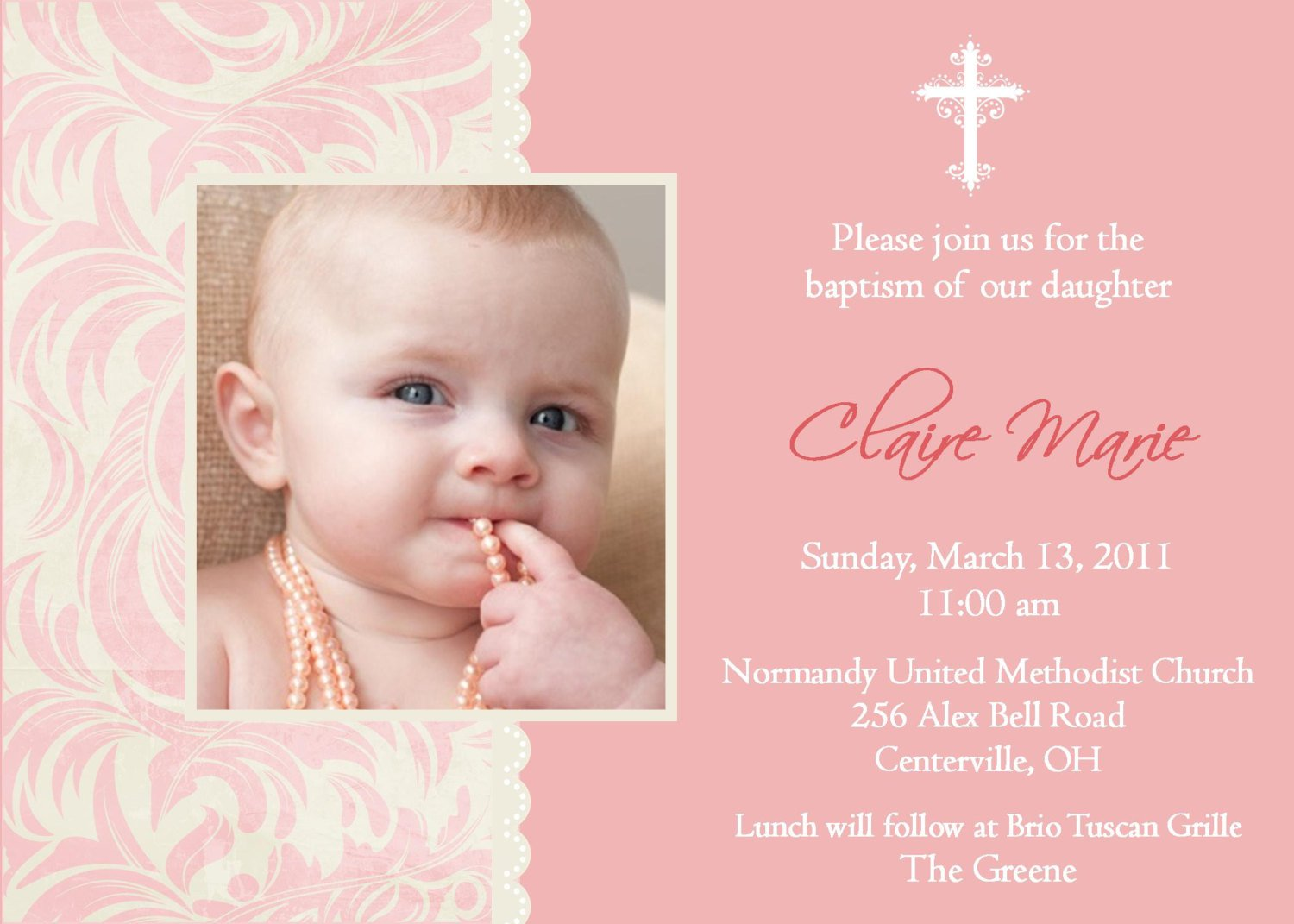 Baptism Invitation Ideas