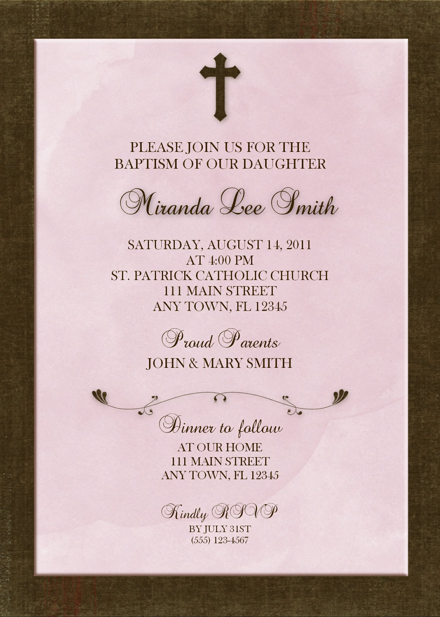 baptism invitation ideas