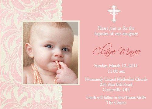 Baptism Invitation Wording Ideas