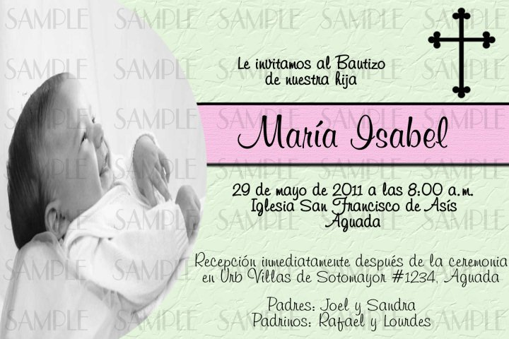 Baptism Invitation Wording In Spanish