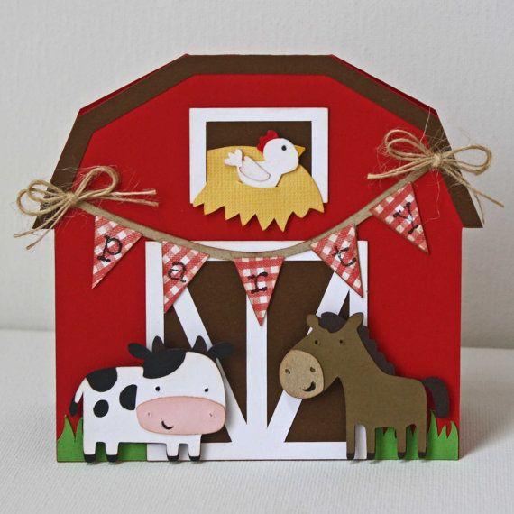 Barn Party Handmade Invitations