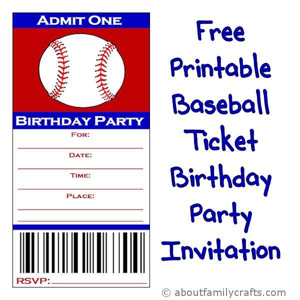 Baseball Party Invitations Templates
