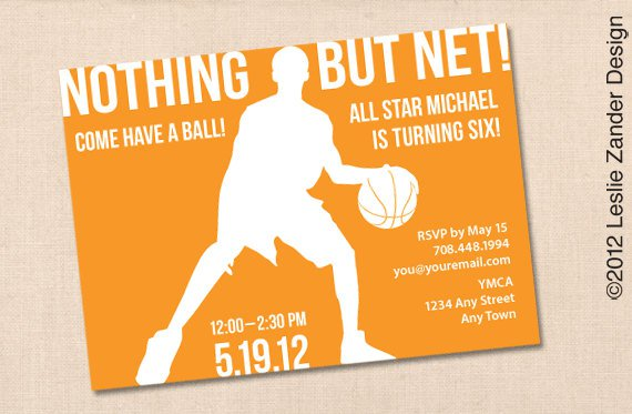 Party Invitations Free Printable – Basketball Birthday Invitations