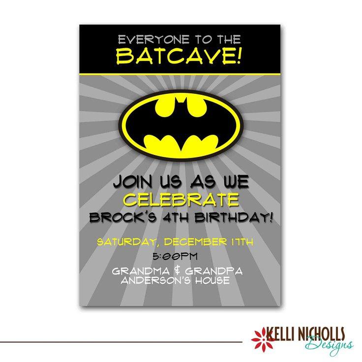 Batman Birthday Party Invitation Templates