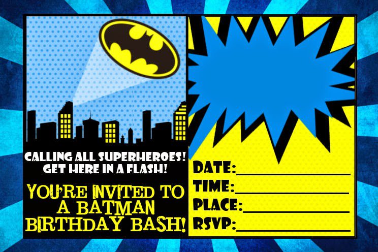 Batman Invitations Free Printable