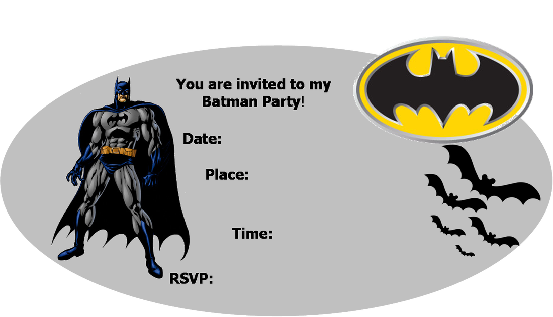 Batman Party Invitation Templates