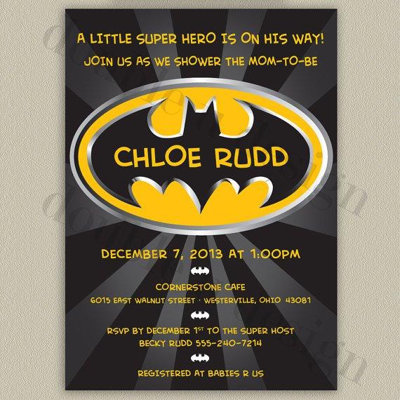 Batman Shower Invitations Printable