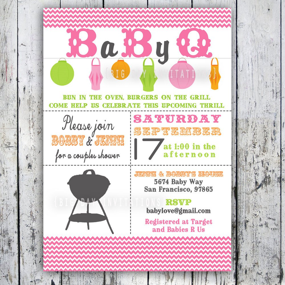 Bbq Baby Shower Invitations Templates