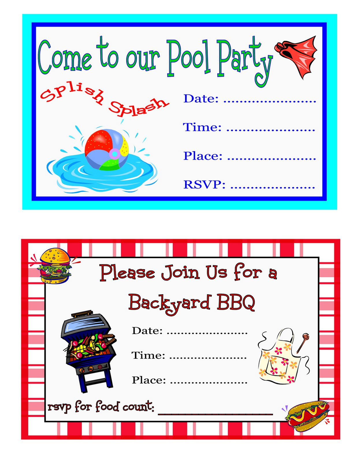 Bbq Birthday Party Invitations Free