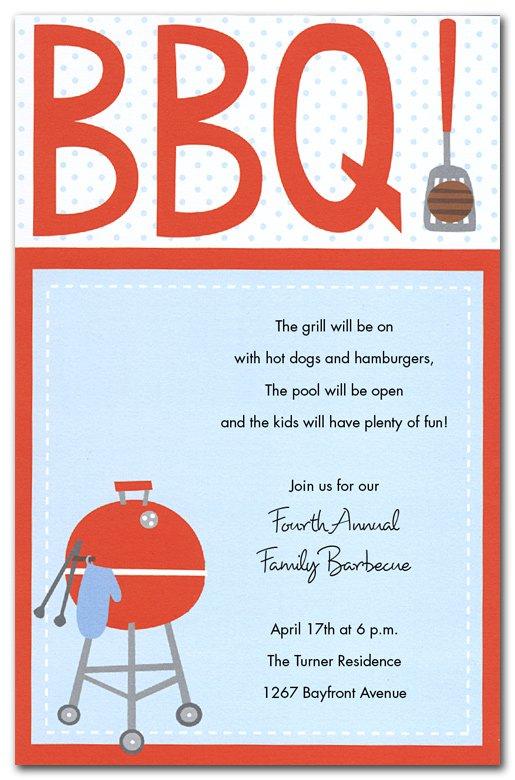 Bbq Invitations Free Printable Templates