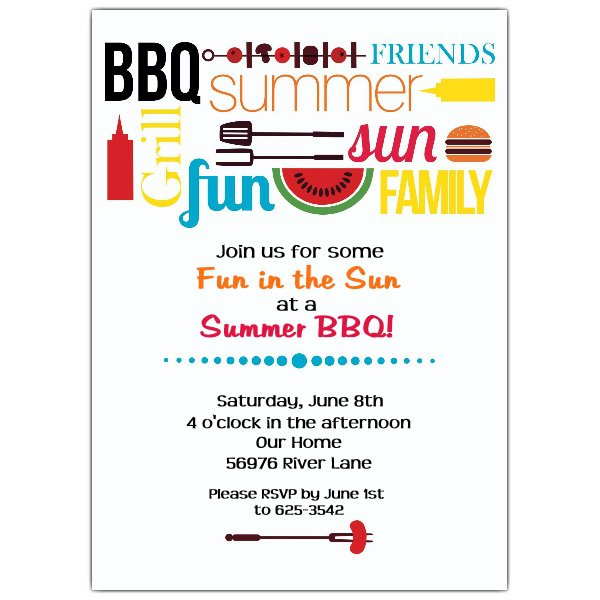 Bbq Party Invitations