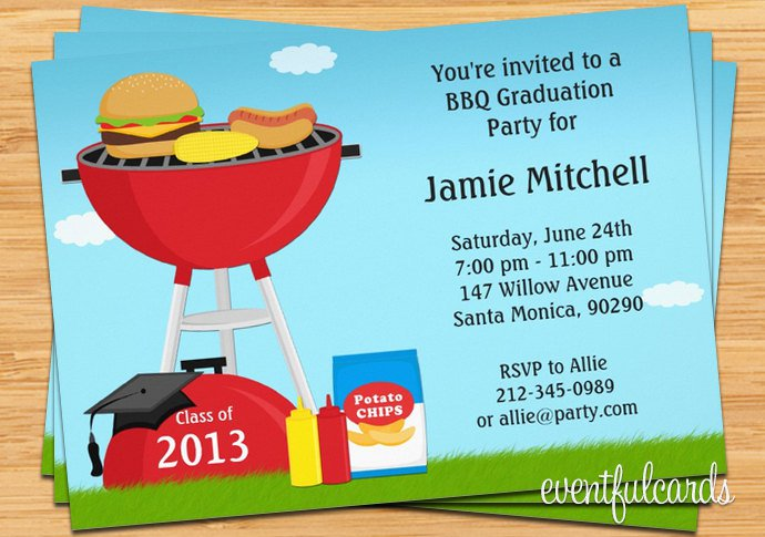 Bbq Party Invitations Uk