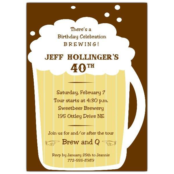 Beer 40th Invitation