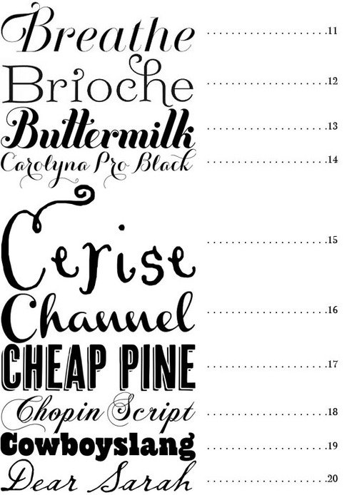 Best Fonts For Invitations