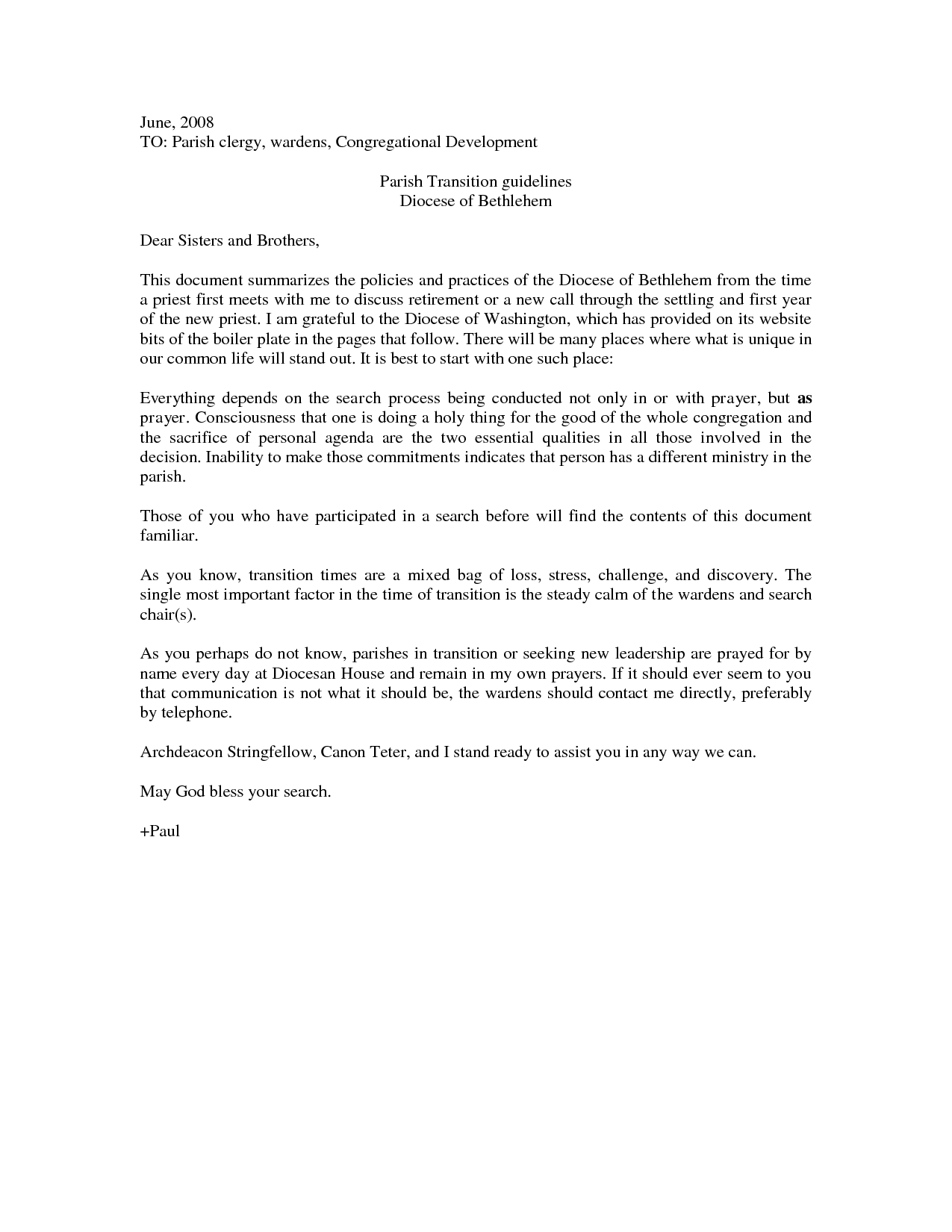 Bid Farewell Letter Sample
