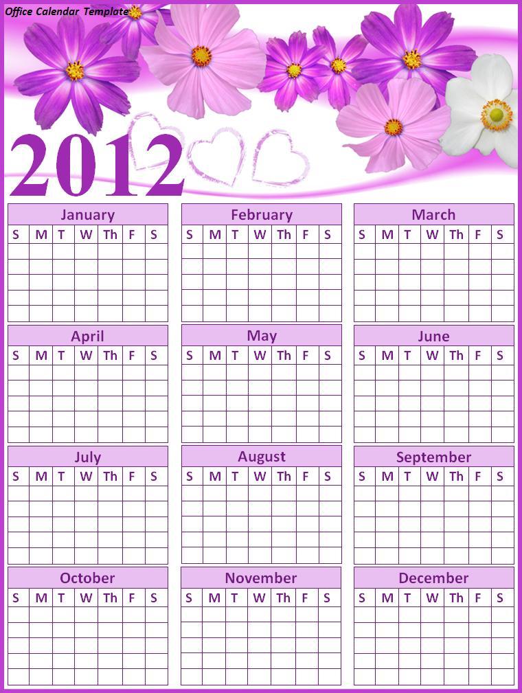 Birthday Calendar Templates Word