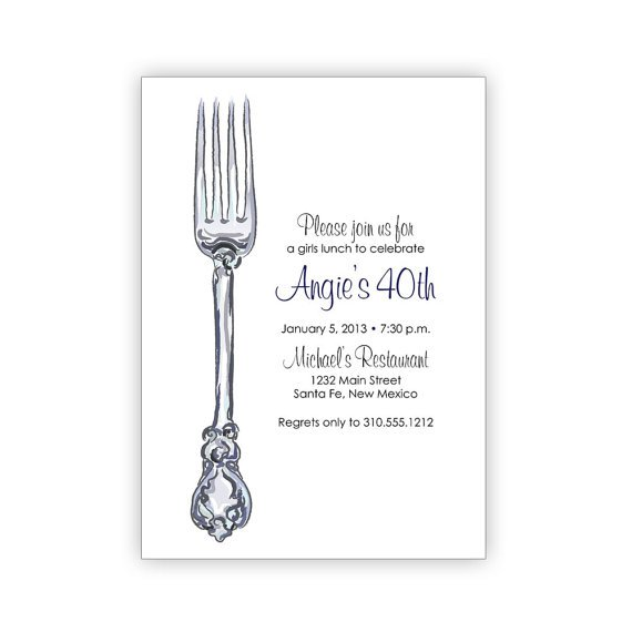 Birthday Dinner Invitations