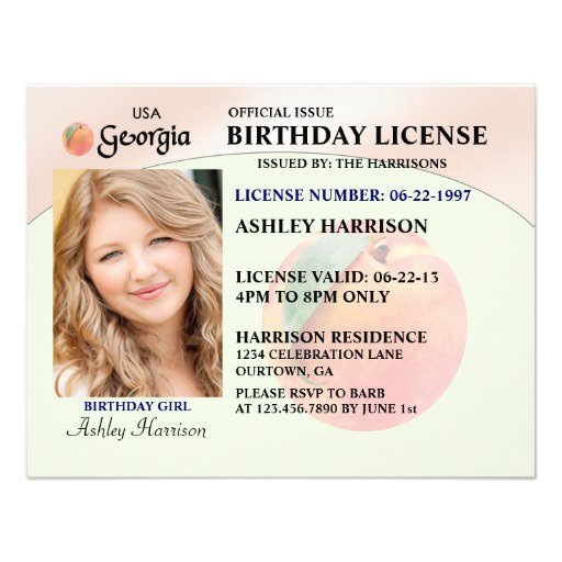 Birthday Invitations Georgia