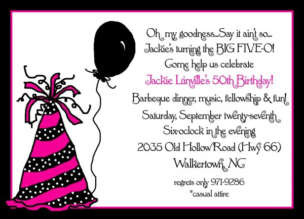 Birthday Party Invitation Ideas For Adults