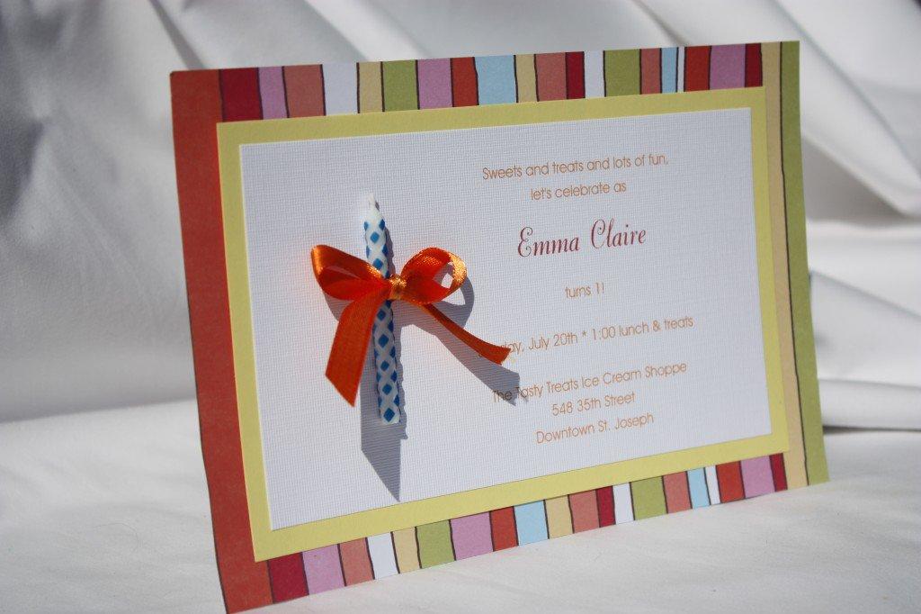 Birthday Party Invitation Ideas Homemade