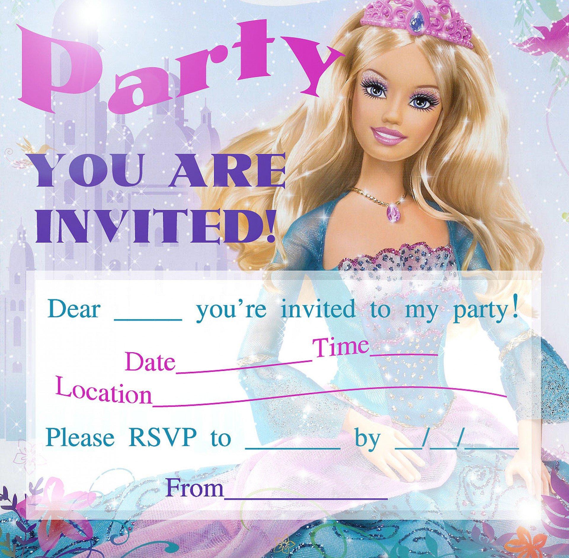 Birthday Party Printable Invitation Templates