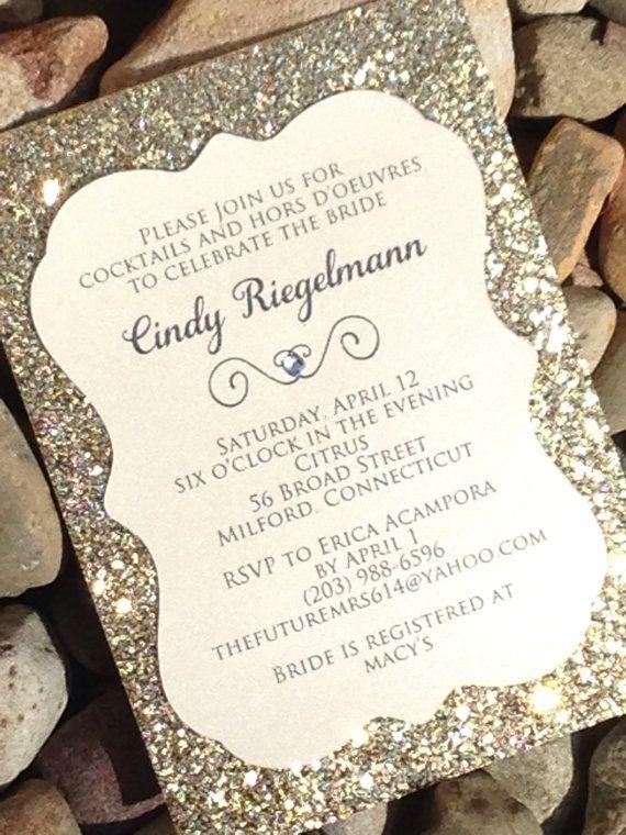 Black And Gold Glitter Wedding Invitations