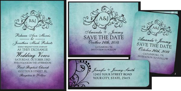 Black And Gold Wedding Invitation Templates