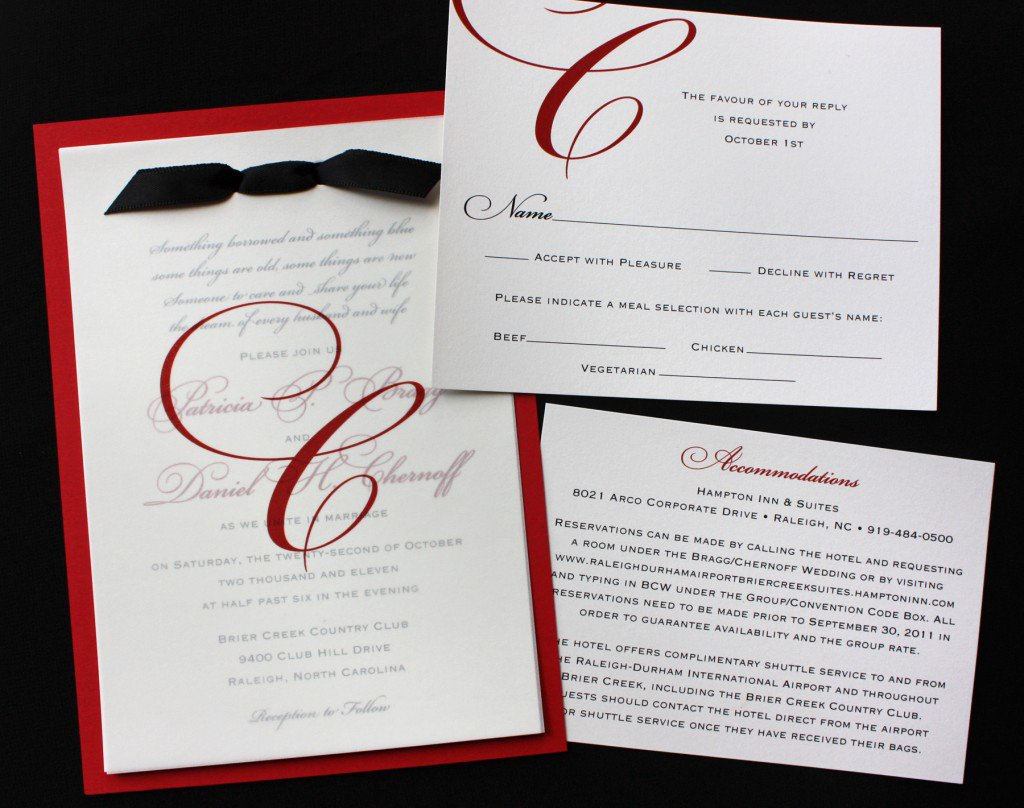 Black And White Invitation Designs