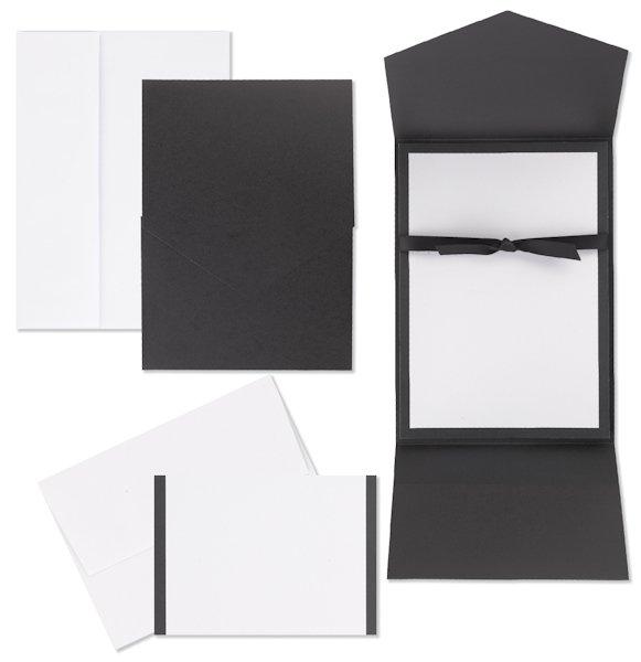 Black And White Pocket Invitation Kit