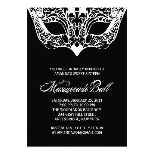 Black And White Pocket Invitations