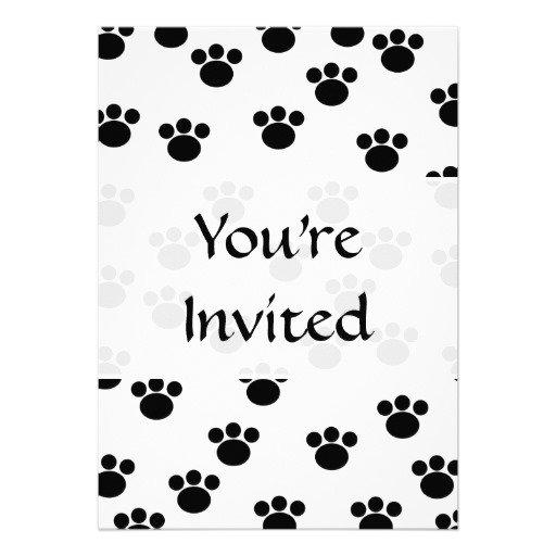 Black And White Print Invitations