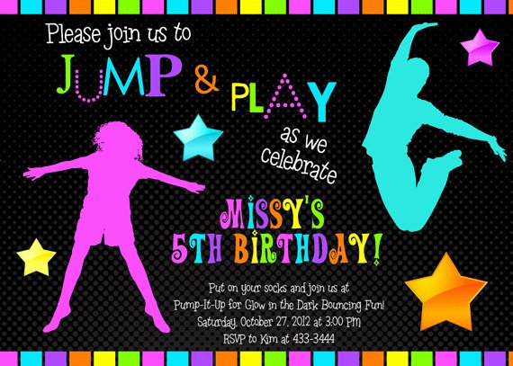 Black Light Party Invitations Free