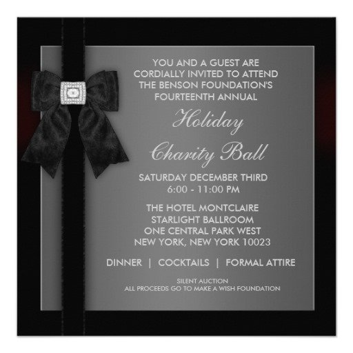 Black Tie Event Invitations Templates