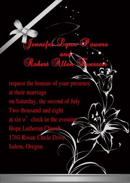 Black Wedding Invitations Cheap