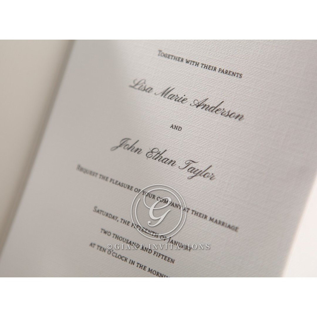 Black Wedding Invitations With White Lettering