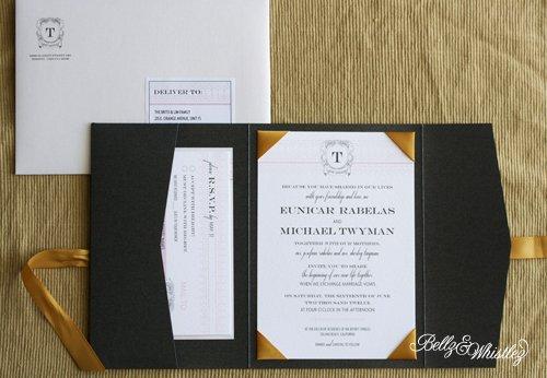 Black White And Gold Wedding Invitations: Black White And Gold Invitations