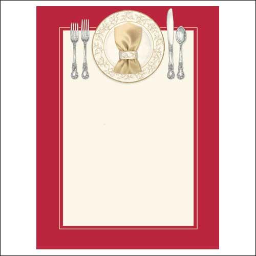 Blank Christmas Dinner Invitations