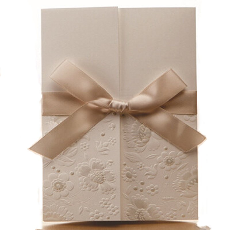 Blank Invitation Cards Embossed Paper