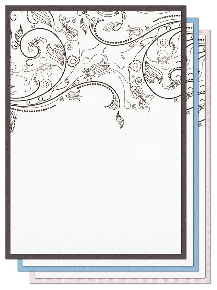 Blank Invitation Cardstock