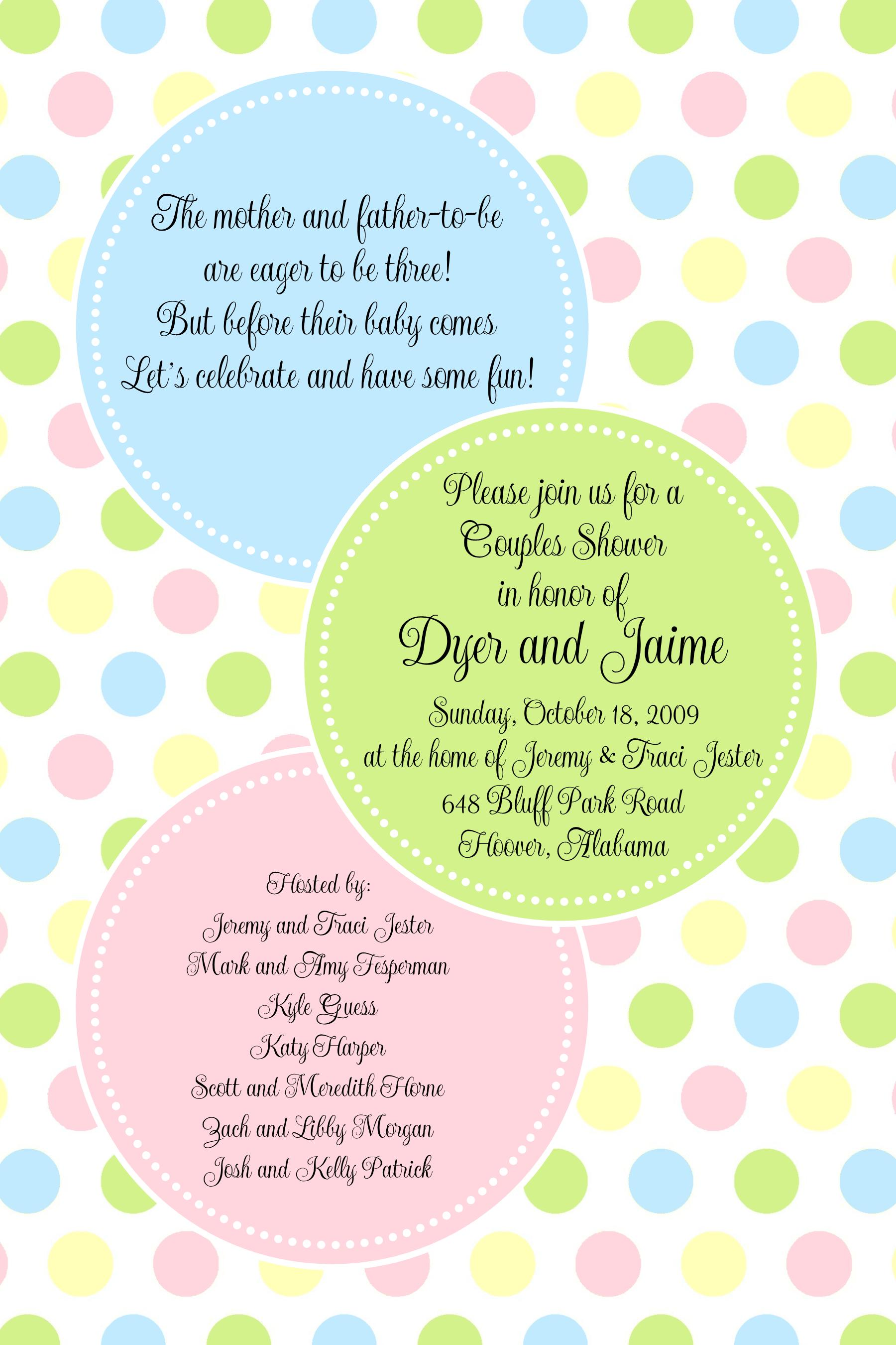 Blank Invitation Paper For Baby Shower