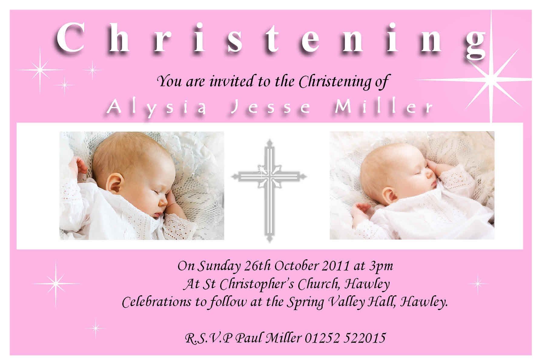 Blank Invitation Templates For Christening