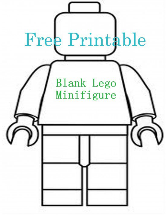 Blank Lego Minifigure Template