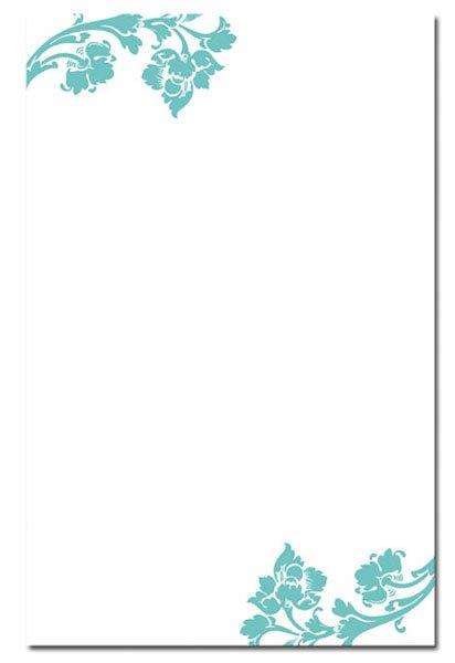 Blank Wedding Invitation Card Designs