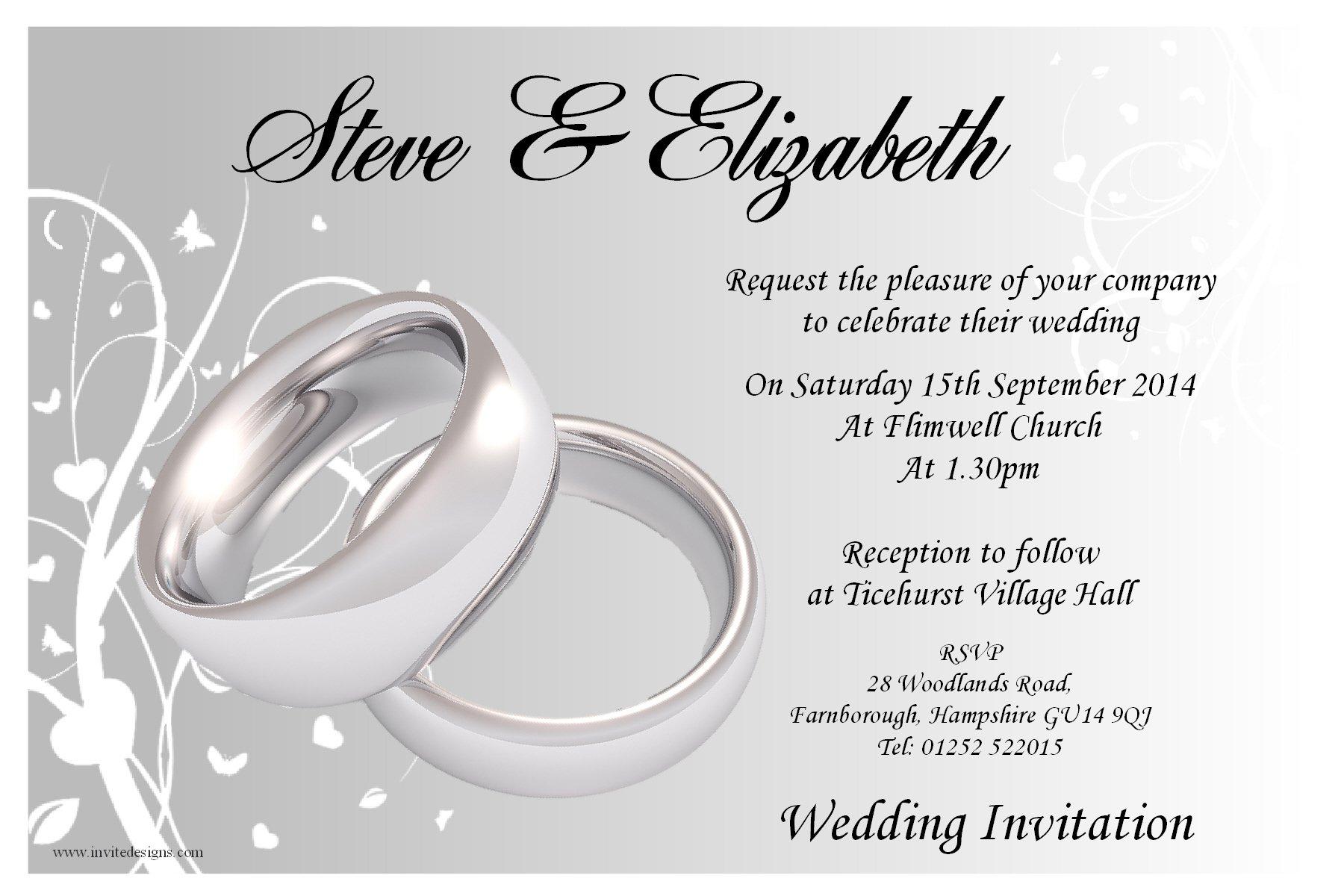 Wedding And Reception Invitations: Blank Reception Invitations