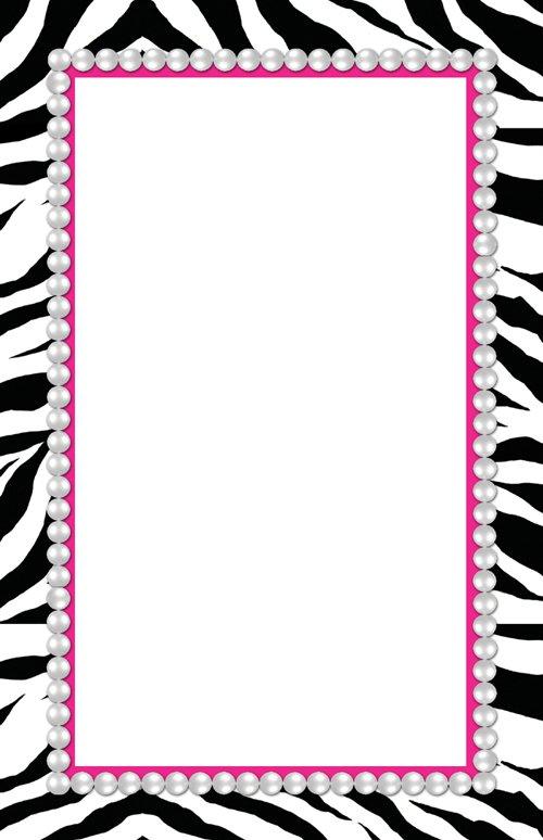 Blank Zebra Print Invitations