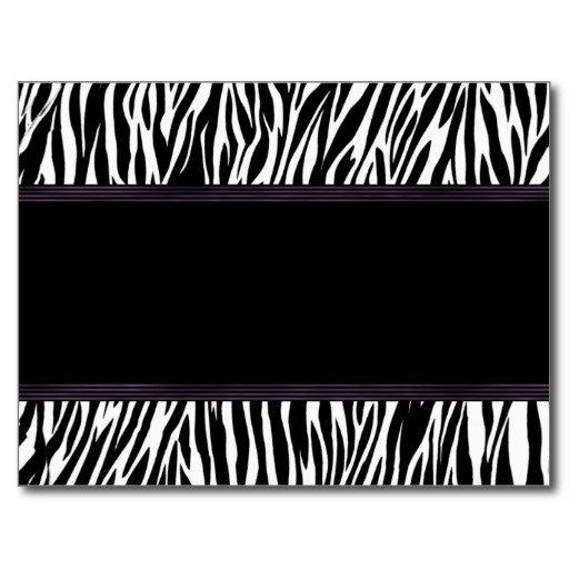 Blank Zebra Stripe Invitations