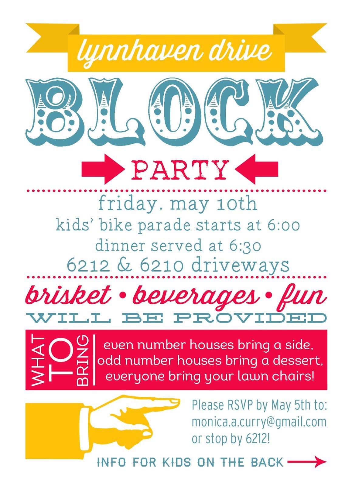 block party invitation templates