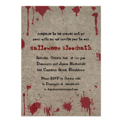 Bloody Halloween Invitations