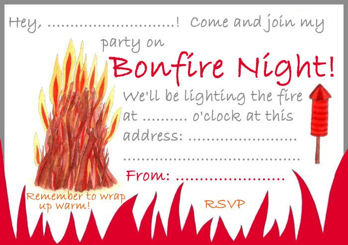 Bonfire Party Invitation Templates Free